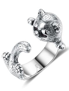 81cda4a59 Competitive Silver ONE-SIZE Rings online, Gamiss offers you Sterling Silver  Kitten Cuff Finger