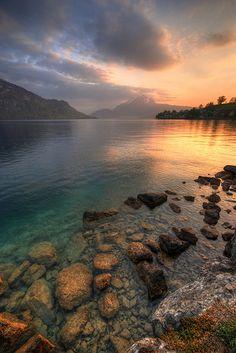 Sunset over Lake Lucerne, Switzerland