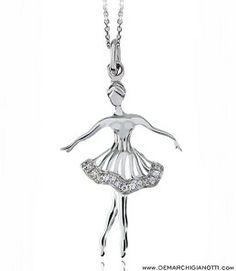 Tutù Gioielli collana in argento e zaffiri bianchi  modello sw-inverno www.demarchigianotti.com