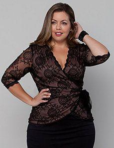Plus size Work Tops | Catherines Curvy Fashion, Look Fashion, Plus Size Fashion, Girl Fashion, Fashion Dresses, Plus Size Shirts, Plus Size Tops, Plus Size Women, Blouse Kimono