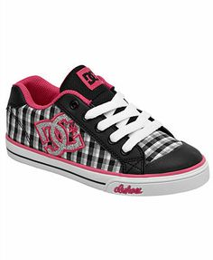DC Pink & Black Checkerboard Chelsea Sneaker by DC Dc Shoes Girls, Jordan Shoes For Women, Little Girl Shoes, Shoes Women, I Love My Shoes, Walk In My Shoes, Fancy Shoes, Me Too Shoes, Kids Sneakers