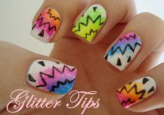 Glitter Tips: Inspired by... - Graffiti Nails