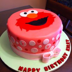 Elmo Birthday Party...love the simplicity