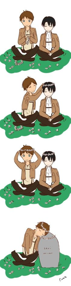 Rivaille (Levi) x Eren Jaeger. I'm crying.  TELL ME THIS ISN'T REAL