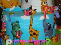 jiraffe, hippo, elephant and rabit