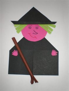 Crafts,Actvities and Worksheets for Preschool,Toddler and Kindergarten.Lots of worksheets and coloring pages. Halloween Crafts For Toddlers, Toddler Crafts, Halloween Kids, Diy For Kids, Kids Crafts, Arts And Crafts, Halloween Witches, Origami Witch, Camera Crafts