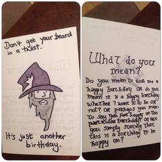 Gandalf Birthday Card - Lord of the Rings / The Hobbit--love this drawing of Gandalf