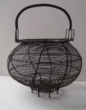 French Wire Egg Basket  Victorian
