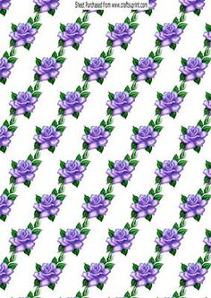 Purple roses background paper on Craftsuprint - Add To Basket!