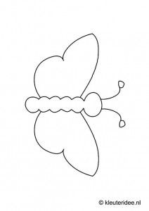 Template for Mondrian art, theme art for toddlers, kleuteridee. Mondrian Art, Animal Templates, Butterfly Illustration, Toddler Art, Chenille, Art Themes, Heart Art, Beaded Embroidery, Flower Power
