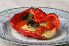 nami-nami: a food blog: Recipe for Mozzarella Stuffed Peppers