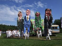 Bread and Puppet Theater in Glover, Vermont. Art and drama mixed with social activism.