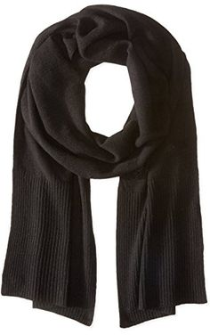 Cole Haan Women's Cashmere Muffler, Black, One Size ❤ Cole Haan Womens Accessories
