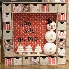 julekalender fra kaisercraft Advent Calendar, November, Display, Holiday Decor, Home Decor, November Born, Floor Space, Billboard, Interior Design