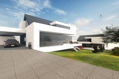 Hanghaus Satteldach moderne Architektur by http://www.flow-architektur.de/portfolio/architektenhaus-satteldach-bauen/ #Architektur