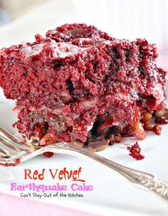 Red Velvet Earthquake Cake - Can't Stay Out Of The Kitchen