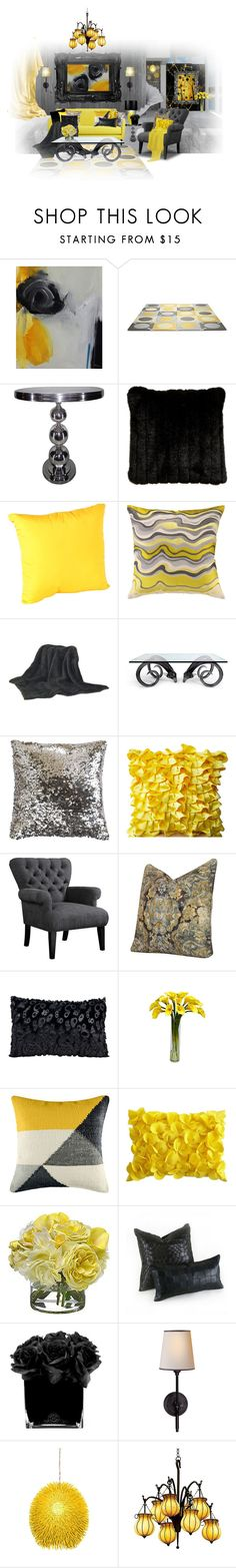 """""""Y & G"""" by lailoooo ❤ liked on Polyvore featuring interior, interiors, interior design, home, home decor, interior decorating, NOVICA, Christopher Knight Home, Ethan Allen and Jonathan Adler"""