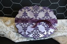 Gift Box Elegant Eggplant with silver