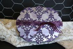 Gift Box Elegant Eggplant with silver