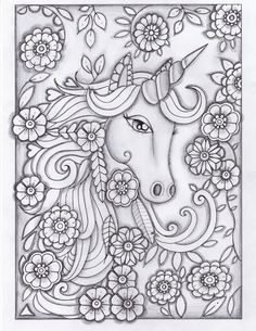 Printable Coloring Pages Of Unicorns Fresh Unicorn Greyscale Drawing Unedited Unicorn Coloring Pages, Printable Adult Coloring Pages, Coloring Pages To Print, Free Coloring Pages, Coloring For Kids, Coloring Sheets, Coloring Books, Colouring Pages For Adults, Fairy Coloring