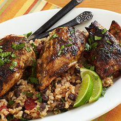 Jamaican Jerk Chicken Get your Jamaican Jerk Sauce at Bath! Kitchen Recipes, Gourmet Recipes, New Recipes, Favorite Recipes, Healthy Recipes, Yummy Recipes, Jamaican Jerk Sauce, Jerk Chicken, Jamaican Recipes