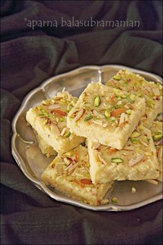 My Diverse Kitchen - Food & Photography From A Vegetarian Kitchen In India : Kalakhand (A Milk & Paneer Fudge) – The Easy Version (Cheat's Recipe)
