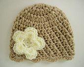 Crochet Baby Hat, Boy Hat, Gray and Baby Blue, Ready to Ship, Newborn. $11.00, via Etsy.