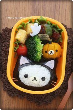 黒猫コリラックマのHalloween弁当*キャラ弁