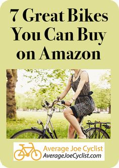 Reviews, comparative chart, and videos to tell you all about 7 great bikes you can buy on Amazon, including Cruisers, Mountain bikes, Hybrid bikes, Road Bikes, and Comfort Bikes. Take advantage of Amazon's excellent delivery and return policies! Some reputable brand name bikes are available on Amazon, so there are some great options available. Post includes Pro Tips on how to buy bikes from Amazon. #AverageJoeCyclist #Amazon #BuyingBikes #cyclists #cycling Cycling Quotes, Cycling Tips, Cycling Workout, Cycling Art, Women's Cycling Jersey, Cycling Jerseys, Bmx Cycles, Buy Bicycle, Bike Reviews
