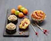 Makis de concombre et rillettes au sésame noir - une recette Fête - Cuisine