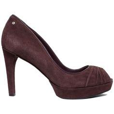 Rockport Women's Shoes, Janae Ruched Platform Pumps ($98) ❤ liked on Polyvore