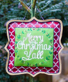Look what I found on #zulily! 'Merry Christmas Y'all' Canvas Wall Art by Glory Haus #zulilyfinds