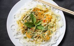 These golden spiced Thai noodles are a great option for a quick easy meal. The rice noodles are coated in a rich coconut sauce that is well spiced and not too heavy.