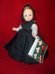 1966-Madame-Alexander-8-AMISH-GIRL-Bent-Knee-Alexander-kin-Doll