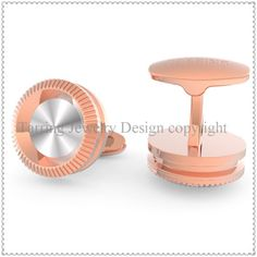 """Stainless steel cufflinks in rose-gold and silver color, the cufflinks Foot """"Tarring Jewelry"""" can change to your logo and company name."""