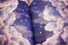 open book of dreamy night sky - don't know who original artist is to credit