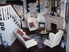 Living Room : bleu et chinois