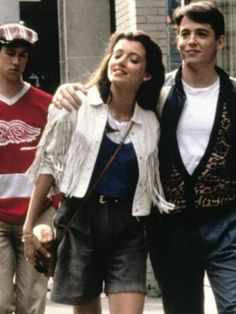 Ferris Bueller's Day Off Mia Sara White Jacket 90s Movies, Iconic Movies, Good Movies, Movie Tv, Film Aesthetic, Retro Aesthetic, Farris Buellers Day Off, Movies Showing, Movies And Tv Shows