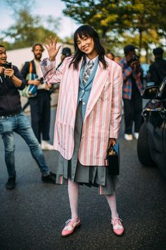 Attendees at Paris Fashion Week Spring 2019 - Street Fashion