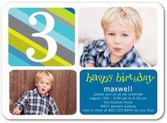 Photo Birthday Invitations for Boys by Tiny Prints