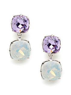 lilac drop earrings; love.