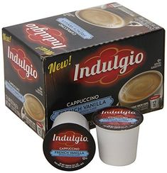 Indulgio Cappuccino, French Vanilla, Single Serve Cup for Keurig K-Cup French Vanilla Cappuccino, Keurig, K Cups, Luxury Watches For Men, Coffee Cans, Latte, Cappuccinos, Teas, Count