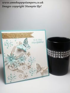 Stampin Up! Quick but beautiful card using Grateful Bunch