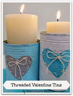 Threaded Valentine Tins Tutorial | NorthShoreDays.com or make them any theme for a gift.