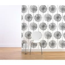 Muriva  Dandelion Wallpaper Silver alternative image