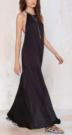 Slit Up Maxi Dress - Midi + Maxi