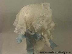 1850s Carrickmacross Lace Day Cap   Sew historically