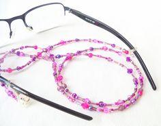 Brillenkette++rosa-pink-lila+von+soschoen+auf+DaWanda.com