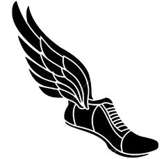 Track Winged Shoe Clipart Eps File Svg And Jpeg Png Running