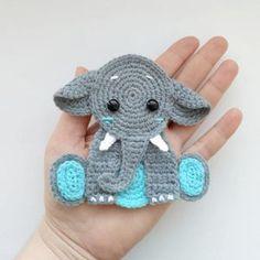 Mobiles En Crochet, Crochet Mobile, Elephant Applique, Crochet Elephant, Baby Elephant, Elephant Blanket, Crochet Lion, Elephant Head, Applique Patterns